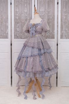 Fantastic Wind -Deep Sea Girl- Vintage Classic Lolita OP Dress Source by AniDaniEntly dress classic Harajuku Fashion, Kawaii Fashion, Lolita Fashion, Cute Fashion, Rock Fashion, Fashion Boots, Pretty Outfits, Pretty Dresses, Beautiful Dresses
