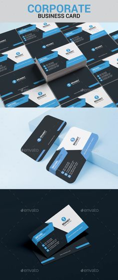 Corporate Business Card Template by TPKdesign_studio   GraphicRiver Cool Business Cards, Corporate Business, Business Card Design, Print Templates, Card Templates, Print Fonts, Name Cards, Cards Against Humanity, Texts