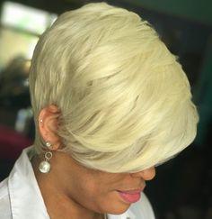 Blonde Layered Pixie