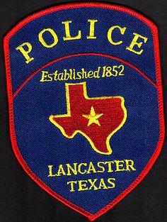 LANCASTER TEXAS POLICE SHOULDER PATCH