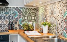 kitchen interio decor The Zellij (tiles) trend, for a modern home with a Moroccan touch