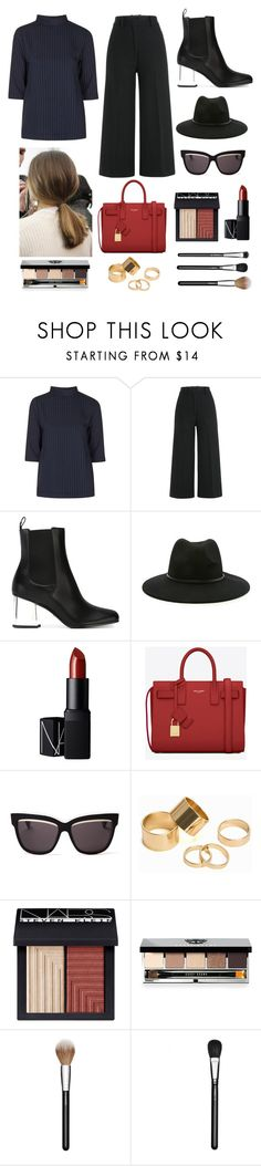 Simple,sleek, & chic outfit by micalkalimi on Polyvore featuring Topshop, Jil Sander, Gucci, Yves Saint Laurent, Pieces, Forever 21, Christian Dior, Bobbi Brown Cosmetics, NARS Cosmetics and MAC Cosmetics