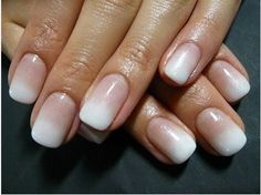 Air brushed french manicure