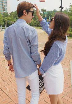 Matching couple outfits, twin outfits, cute couples, cute outfits, couple s Matching Couple Outfits, Matching Couples, Matching Clothes, Dope Fashion, Korean Fashion, Punk Fashion, Mode Ulzzang, Look Girl, Stylish Couple