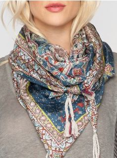 Heidi Scarf Multi the tassels and colors  good site