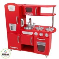 KIDKRAFT detská kuchynka RED VINTAGE