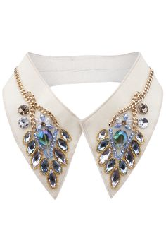 "Shop Beaded ""Fake Diamonds"" White Collar at ROMWE, discover more fashion styles online. Beaded Collar, Collar And Cuff, Collar Necklace, Embroidery Jewelry, Beaded Embroidery, Jewelry Accessories, Fashion Accessories, Fashion Jewelry, Fashion Details"