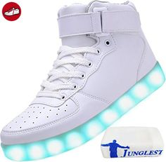 (Present:kleines Handtuch)c11 EU 44, Flash LED-Licht 7 JUNGLEST® Color Casual Sport USB mode Luminous Sneakers Changing Shoes Women Sneakers Men