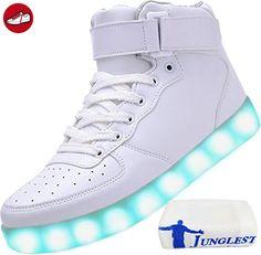 (Present:kleines Handtuch)Rot EU 37, Couple Top High JUNGLEST® Luminous Changing Sport Women USB Color Flash Sneakers Unisex Sneakers Men 7 Casua