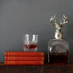 Whisky decanter.