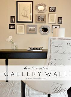 LiveLoveDIY | How to hang a gallery wall