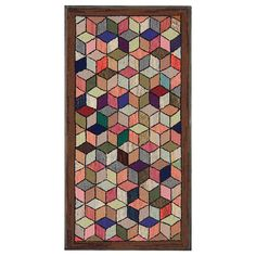 Tumbling Blocks Hooked Rug | via 1stDibs (sold)