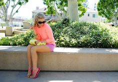pastels, color-blocking, love it all #summer