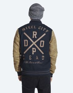 For cody? Buy The End Is At Hand Varsity Jacket at Drop Dead Clothing