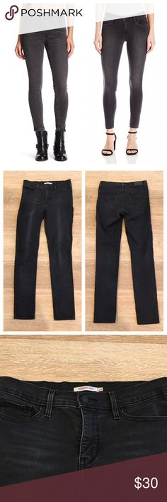 Levi's 311 Shaping Skinny Gray Black 29 Gently used. Size 29. Designed to smooth and enhance, our shaping jeans slim your tummy, lift your seat, and lengthen your legs. The 311 Shaping Skinny is super comfortable and ultra flattering, cut with a perfect skinny leg you'll want to wear every day. Levi's Jeans Skinny