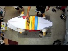How to prepare a surfboard (or paddleboard) for painting - A tutorial showing you how to prepare a surfboard for painting, including prepping, cleaning and sanding the board.