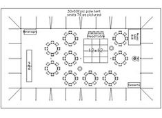 floor plan for wedding reception with 75 guests in bellingham
