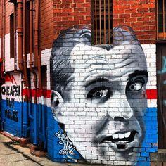 Street art, Footscray, Melbourne - Ted Whitten, AFL legend known as Mr. Street Wall Art, Street Art Graffiti, Graffiti King, Western Bulldogs, Great Team, Cool Photos, Interesting Photos, Outdoor Art, Street Artists