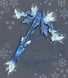 Custom Ice themed Crossbow by Forged-Artifacts.deviantart.com on @deviantART