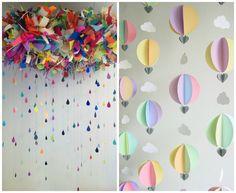 Decoração superfofa e criativa com varais para festa infantil