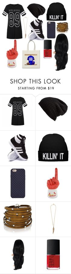 """Game Night"" by madisonpearl on Polyvore featuring Ally Fashion, Free People, adidas, Tory Burch, Brett Bros, Sif Jakobs Jewellery, Roberto Cavalli and NARS Cosmetics"
