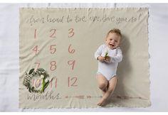 Baby Milestone Swaddle Blanket   Pick Your Style