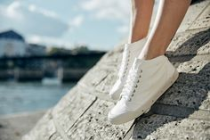 Core Collection, Lambskin Leather, Spring, Sneakers, Women, Fashion, Tennis, Moda, Fashion Styles