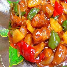 Chinese - sweet and sour pork.