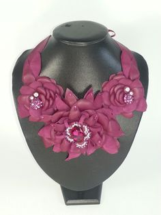 Leather neck piece ready for the Sydney Easter Show