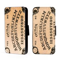 Ouija Board supernatural - iphone 6 + 4,5,c,s S4, S5 Leather Phone Cover Case Wallet Cards/I.D Space by WWDecals on Etsy https://www.etsy.com/listing/222108234/ouija-board-supernatural-iphone-6-45cs