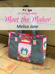 Meet the Maker: Melisa Jane - Andrie Designs Paper and PDF bag patterns Handmade bag Bag Patterns, Handmade Bags, Lunch Box, Pdf, Meet, Paper, Design, Handmade Handbags, Design Comics