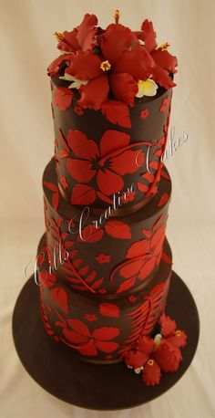 Island them birthday cake, complete with a Kava bowl for tradition Hibiscus Wedding, Hibiscus Cake, Beautiful Cakes, Amazing Cakes, 21st Bday Ideas, Birthday Ideas, Island Cake, Dad Cake, 21st Cake