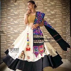 This Navratri buy our ready to wear chaniya choli. To place order whatsapp us on our number Navratri Collection 2018 Garba Chaniya Choli, Garba Dress, Navratri Dress, Lehnga Dress, Lehenga Choli, Bandhani Dress, Indian Lehenga, Choli Designs, Lehenga Designs