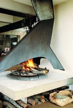 Brutalist Fireplace