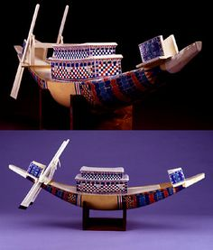 Model ships found in the tomb