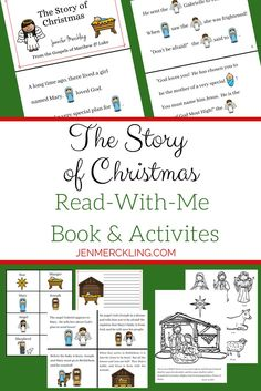 The perfect addition to your Christmas Homeschool Lessons! Young kids love reading the pictures, while you read the words! Emergent Readers will gain . Craft Activities For Kids, Christmas Activities, Christmas Traditions, A Christmas Story, Little Christmas, Christmas Fun, Homeschool Kindergarten, Preschool, Emergent Readers