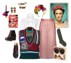 """""""Frida"""" by juliabachmann ❤ liked on Polyvore featuring Bijoux de Famille, Native State, Burberry, Olympia Le-Tan, Etro and Maison Margiela"""