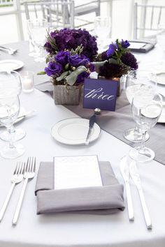 Ideas Wedding Centerpieces Elegant Purple Table Runners For 2019 Purple Wedding Tables, Purple Table, Wedding Colors, Wedding Flowers, Grey Table, Wedding Bouquet, Trendy Wedding, Our Wedding, Dream Wedding