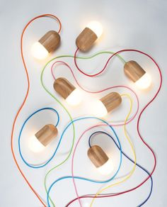 Designer Katerina Kopytina brought fun and whimsy to home lighting with her Light Bean project. The minimalist light fixtures do indeed look like beans thanks Industrial Lighting, Cool Lighting, Lighting Design, Industrial Design, Lighting Ideas, Design Light, Lamp Design, Ballon Lampe, Blog Design Inspiration