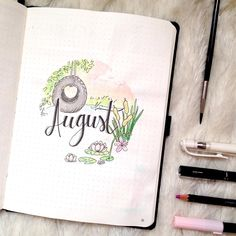 🇬🇧Finally August! Not sure how to call this month theme but it will be full of water lilies and sunsets! 🇮🇹Finalmente Agosto! Non so bene… Bullet Journal August, Bullet Journal Junkies, Bullet Journal Books, Bullet Journal Themes, Bullet Journal Layout, Bullet Journal Inspiration, Book Journal, Filofax, Visual Thinking