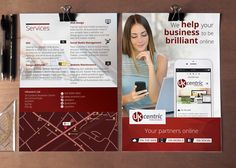 UKcentric - Digital Marketing Flyer by Vectogravic