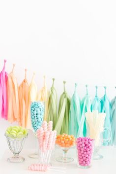 What a Fun & Colorful Decoration! The Rainbow Tassel Banner is perfect for a photography backdrop or a party decoration. Bonus, after a party reuse them to decorate your little one's room. - 16 Tassel
