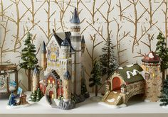 "Now Available - ""Neuschwanstein Castle"". Built in the late 19th century by Ludwig II of Bavaria, this iconic landmark is visited by millions of visitors from all over the world each year. It was the inspiration for Disney's Sleeping Beauty Castle and the name translates to ""Swanstone Castle"".  Ready to shop? http://shop.department56.com/c/villages_alpine-village"