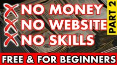 Make Money Online For Free, No Skills, No Website ( 1 Month Challenge! )... Work From Home Jobs, Make Money From Home, How To Make Money, How To Become, Online Marketing Strategies, Affiliate Marketing, Make Money Blogging, Make Money Online, Impossible Dream