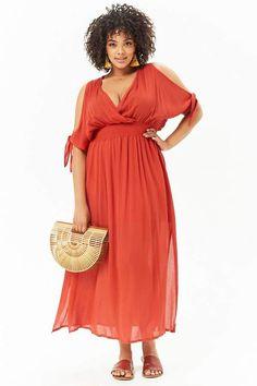 c3cc059bd6f Product Name Plus Size Surplice Open-Shoulder Maxi Dress