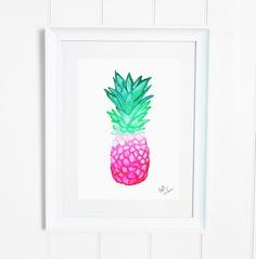 Coming soon | Watercolour Pink Pineapple Print BY BRITTLASPINA x
