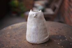 Cat Flowers, Flower Pots, Zoo Keeper, Stoneware, Organic, Vase, Ceramics, Unique, Handmade