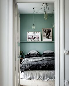 """3,704 gilla-markeringar, 18 kommentarer - Henrik Nero (@henriknero) på Instagram: """"Green bedroom inspiration at Scheelegatan 28 - @henriknero for @visionmakleri"""""""
