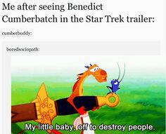 ohmygod but completely true!!! i guess this justifies my momentary lapse in star trek nerd when i was rooting for Sherlock before remembering he was the bad guy..?