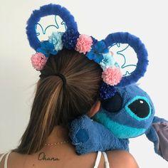 OHANA Ears - Stitch inspired headband - Lilo and Stitch Ears Disney Cute, Diy Disney Ears, Disney Minnie Mouse Ears, Walt Disney, Disney Toms, Disney Diy, Disney Crafts, Disney Outfits, Stitch Disney